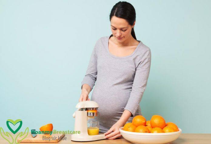 Ăn cam có tốt cho bà bầu